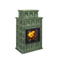 BARACCA 4 TV - кафельный камин со встроенным теплообменником